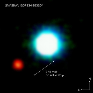 Planet around a Brown Dwarf?