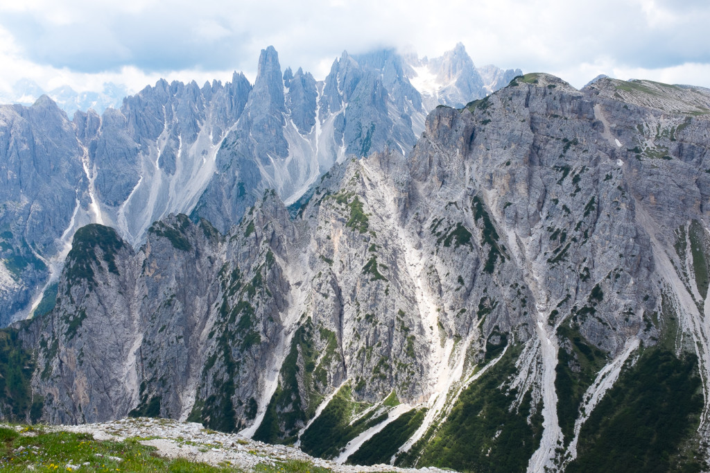 The breathtaking white-gray peaks in the Italian Alps. Photo by D. Apai