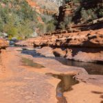 Slide Rock State Park, Oak Creek. The stream cut into the soft sandstone of the Supai group.